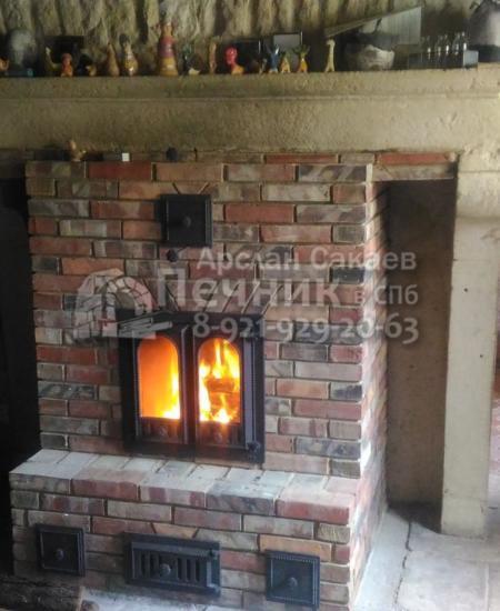 Печь-Камин в доме 0016