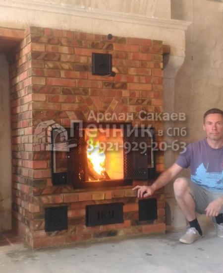 Печь-Камин в галерее 0015